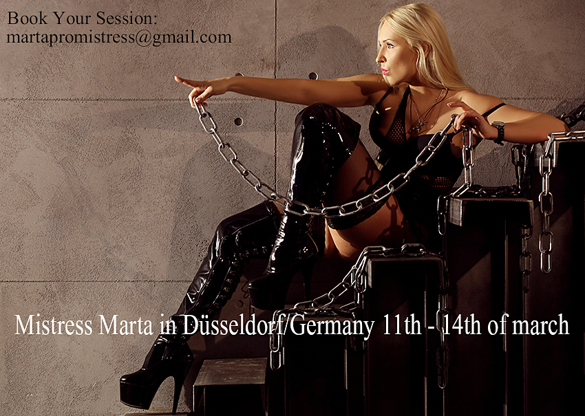 Mistress Marta in germany march 2016
