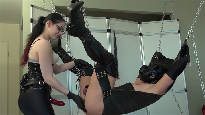 Fucked on The Swing Suspension Bondage/Restraints Domination/FemDom