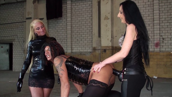 Our Strap On and Fist Up Your Ass Ballbusting Domination/FemDom
