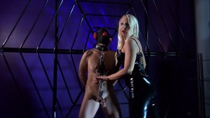 Mistress Marta - Punished at the Cross Nipple Torture CBT