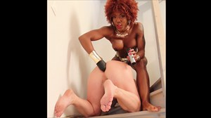 Fucked With The Golden Strap-on  Ebony Domination Strap On