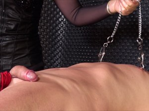 Fun With Sounds and Nipple Clamps