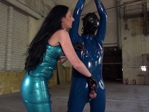 Lady Luciana - Milking the Rubber Slave