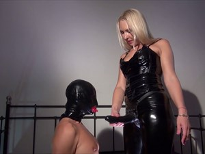Suck Mistress Marta's Cock Bitch