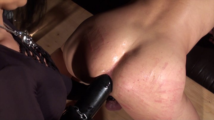 Stretched With XXL Black Cock Strap On Anal Stretching Ass Play