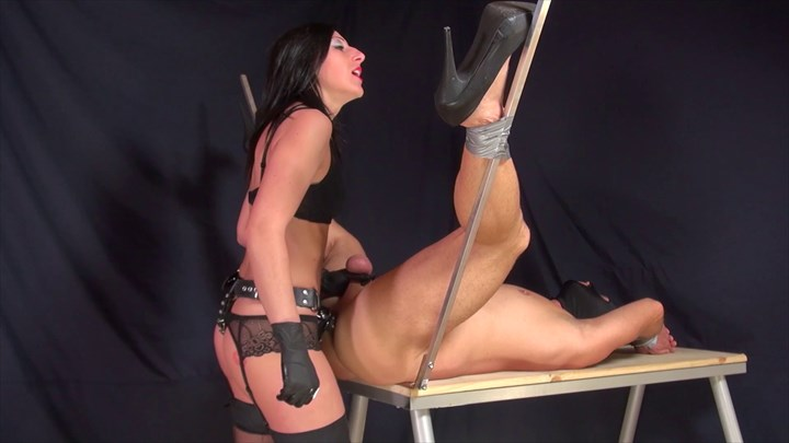 Fucked On The Table by Miss Divina Ass Play Bondage/Restraints Strap On Penetration  Dildo