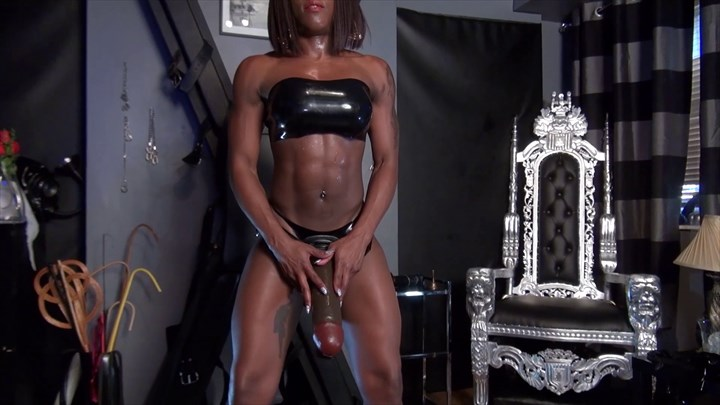 Kiana's Huge Rubber Cock Domination/FemDom Strap On