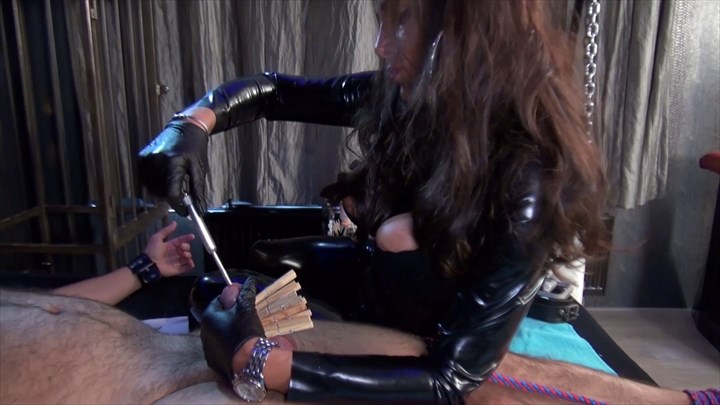 Lady Pias Slave Toy Part 2 CBT Ass Play Anal Stretching