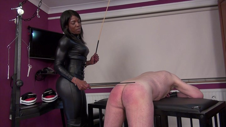 Mistress Kiana - Double Caning Ebony Domination Corporal Punishment