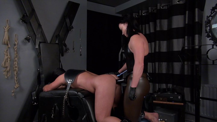 Fucked By Mistress Steel Anal Stretching Strap On