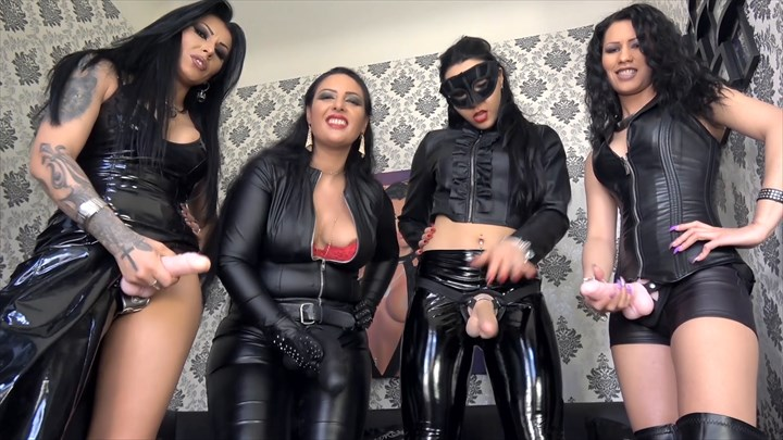 4 Ladies, 4 Strap-on´s - POV Domination/FemDom Strap On