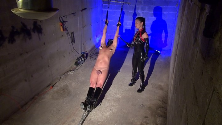Hang Up And Tortured CBT Nipple Torture