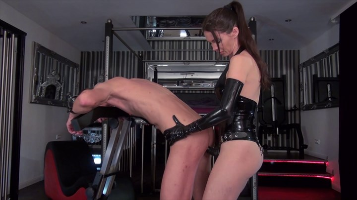 Fucked In The Pillory Ass Play Strap On