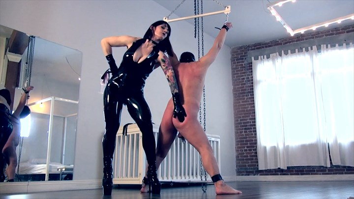 Punished In The White Dungeon Corporal Punishment Latex