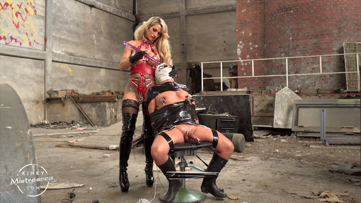 Punished In The Old Factory By Calea Toxic Nipple Torture CBT
