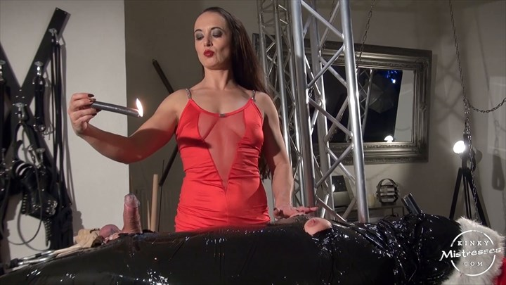 The Xmas Candle Slave CBT Nipple Torture
