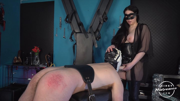 Mistress Minx - Sissy Slut Strap-on Sucking  Strap On
