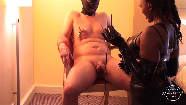 Mistress Ava Black - Electro Sounds & The Anal Plug Electric Play  CBT