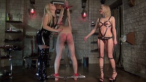 Mistress Marta - Caned by 2 Ladies Corporal Punishment Caning 2-on-1 Action