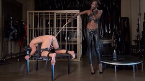 Black Mamba - Strap-on Fucking and CP Anal Stretching Strap On Ebony Domination Corporal Punishment Electric Play  Ass Play