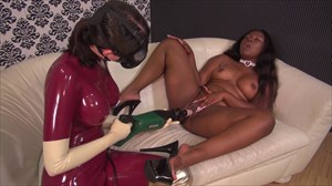 Nelja Fucking Machine Latex Rubber Slave Girls Fucking Machine Sex