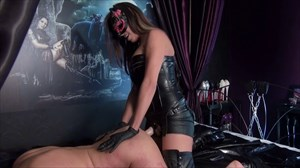 Mistress Sheyla  - Fucked On The Bed Anal Stretching Dildo Sucking Strap On