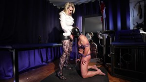 Domina M - A Cock For Your Mouth Dildo Sucking Strap On