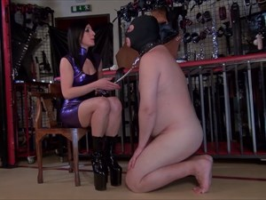 Mistress Anita Divina`s Human Ashtray