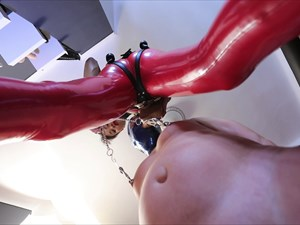 Bijoux Chocolate - Strap-on Blowjob & Nipple Torture