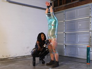 Mistress Adina - Punished In Plastic Wrap