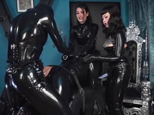 Fucked by 3 Rubber Ladies
