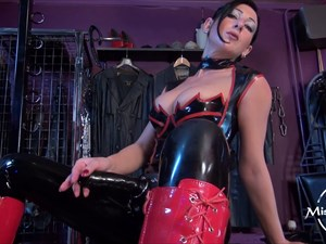 Mistress Anita Divina  - Solo with a strap-on